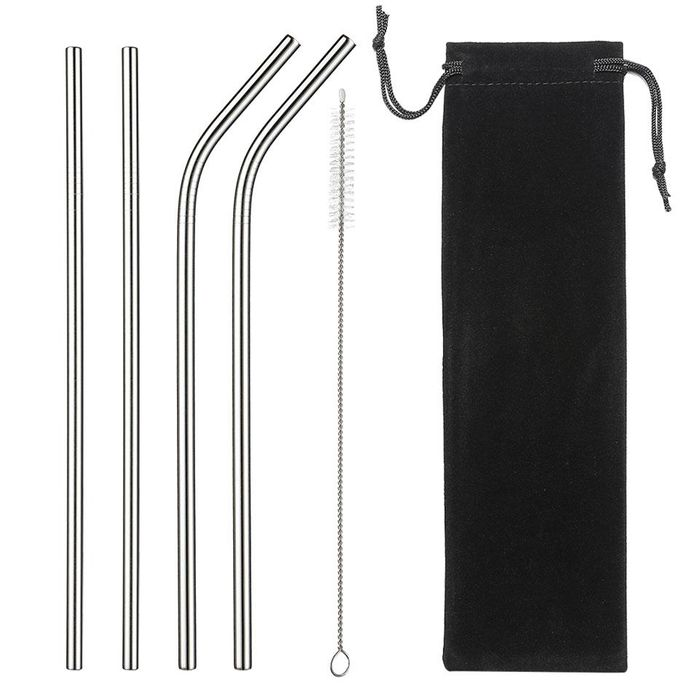 The ECO Reusable Stainless Steel Straw Set