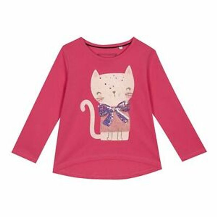 Girls Bztg C1 Cat Ls Tee Only £2.7