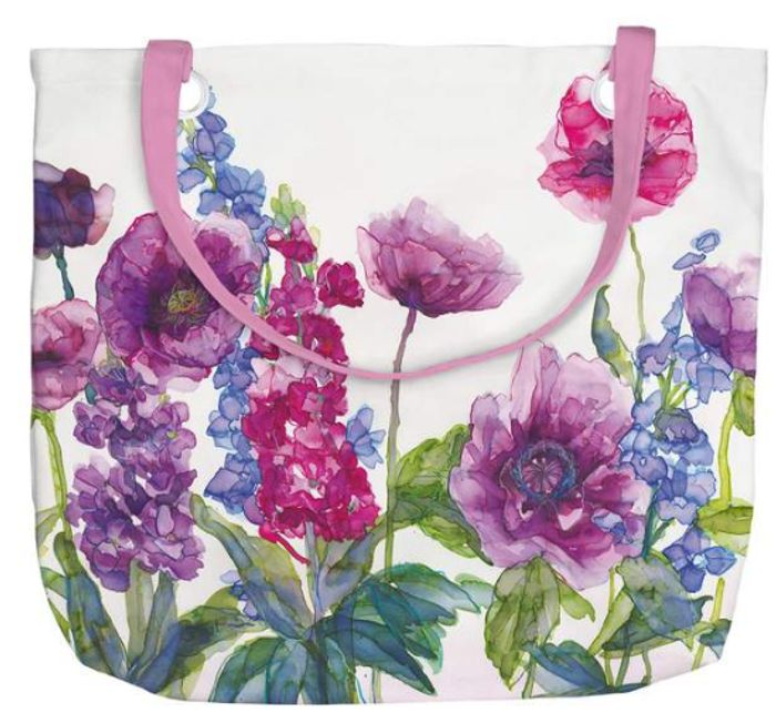 Stocks and Poppies Tote Bag
