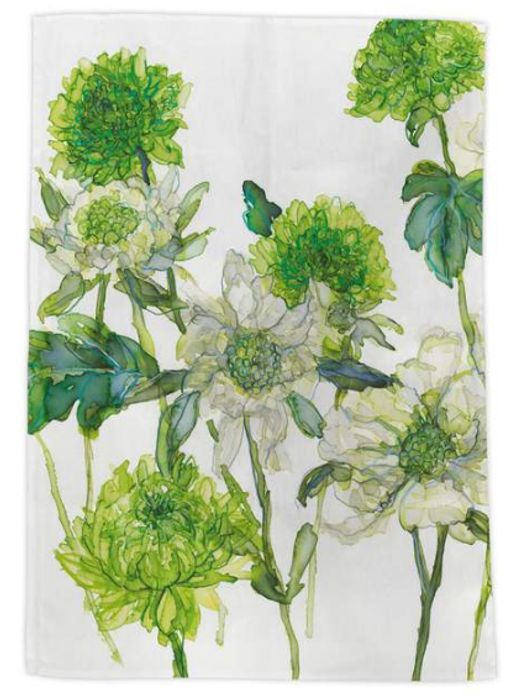 Scabious with Chrysanthemum Tea Towel 3 for £10