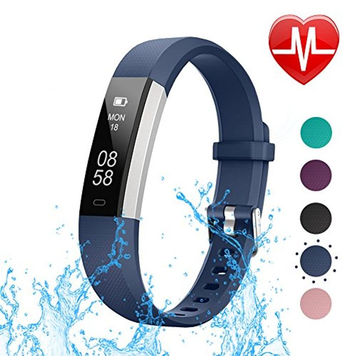 LETSCOM Fitness Tracker with Heart Rate Monitor,