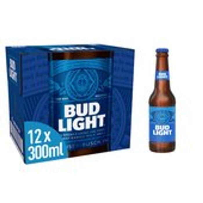 Bud Light Lager Beer bottles 12 x 300ml Only £5
