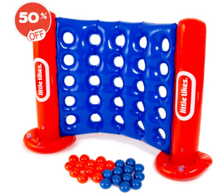 Bargain! Little Tikes Giant Inflatable Four to Score Game at the Entertainer