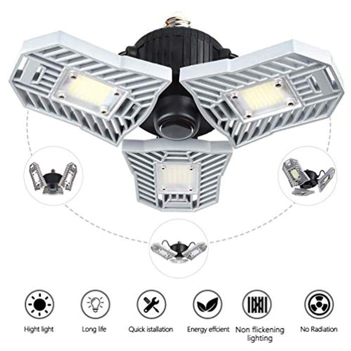 LED Garage Lights,60W E26/E27 6000LM Decorative Industrial Ceiling Light