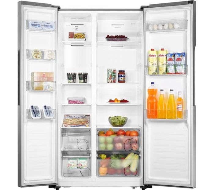 LOGIK American-Style Fridge Freezer - Silver £359.10 with Code