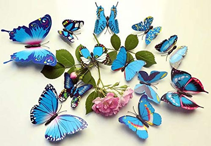 12 Pieces 3D Butterfly Stickrs Fashion Design DIY Wall Decoration