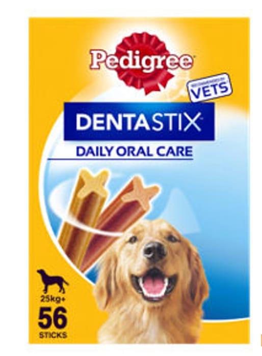 Pedigree Dentastix Daily Adult Large Dog Treat Dental Chews 56 Sticks