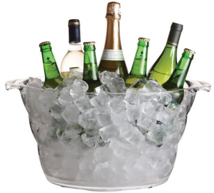 Today Only Best Ever Price! BarCraft Large Drinks Cooler Bucket, Acrylic, 10 L