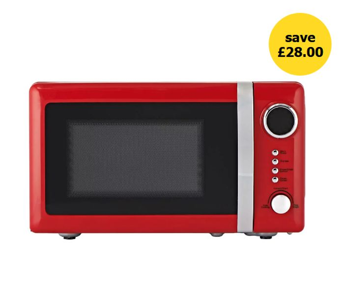 CHEAP PRICE! Wilko Colour Play Red 20L Microwave