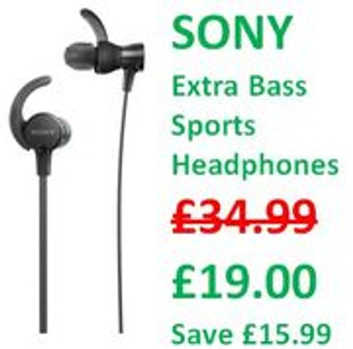 GOING CHEAP! SONY Extra Bass Sports Headphones + FREE DELIVERY