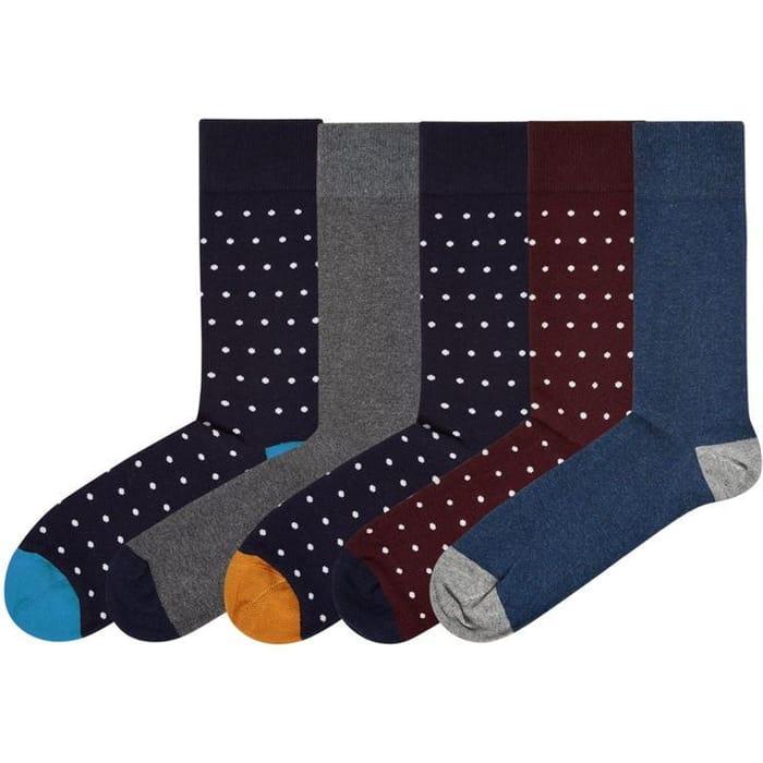 LINEA 5 Pack Spot Socks