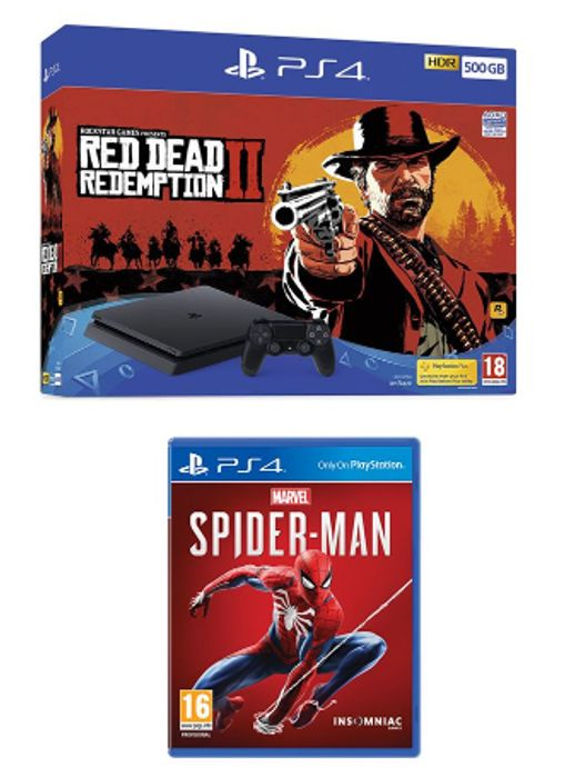 SONY PlayStation 4, Red Dead Redemption 2 & Spider-Man Bundle Only £249