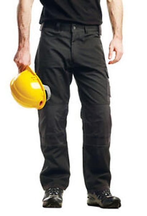 Regatta Mens Workwear/Combat Premium Cargo Kneepad Trousers Black