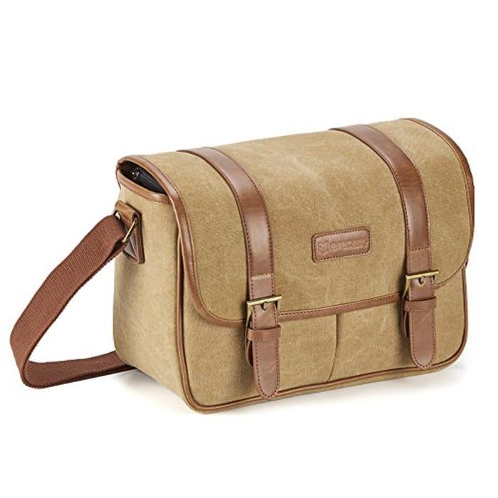 Evecase Large Canvas Messenger SLR/DSLR Shoulder Bag