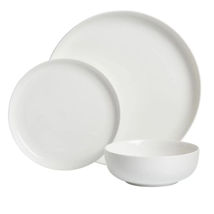 Wilko 12 Piece White Dinner Set