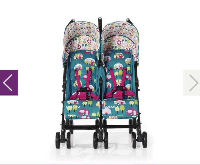 Cosatto Supa Dupa Go Twin Double Pram Stroller - Happy Campers