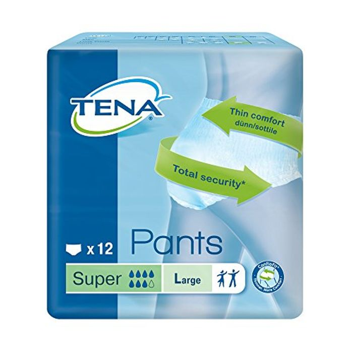 Best Ever Price! Tena Large Pants Super - Pack of 12