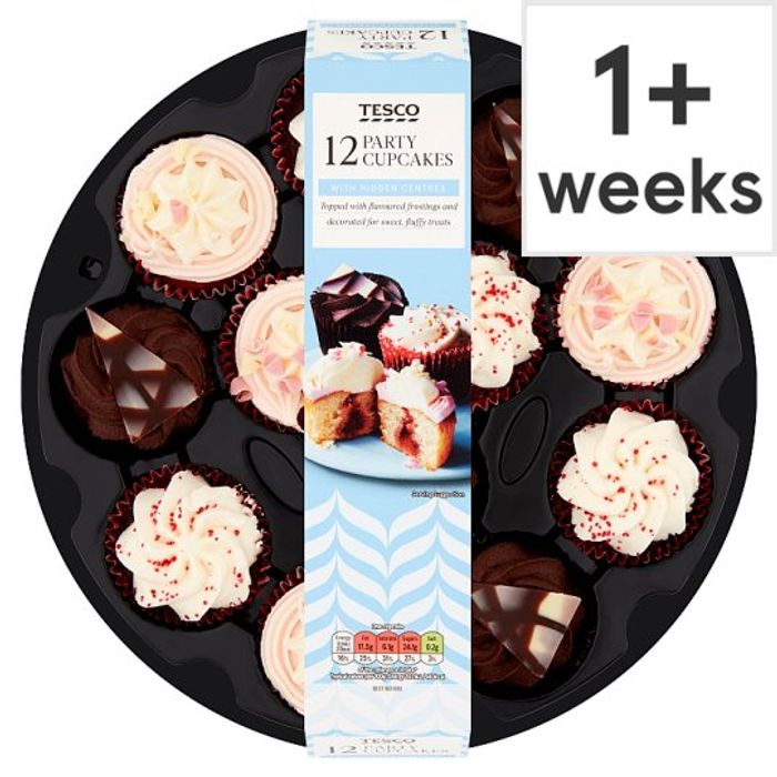 Tesco Party Cupcakes 12 Pack - You Can Even Freeze These!