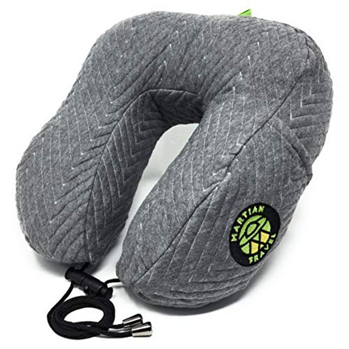 Shredded Memory Foam Travel Pillow for Airplanes Soft Cushion Support -