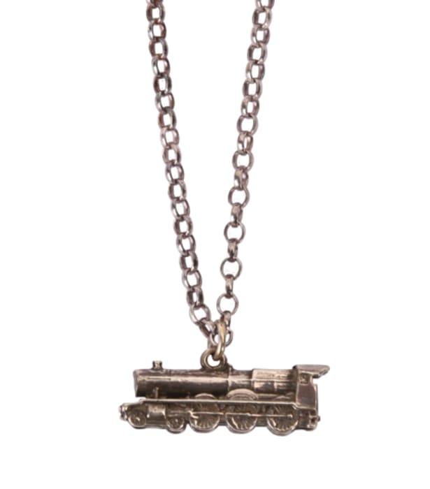 Sterling Silver Hogwarts Express Necklace