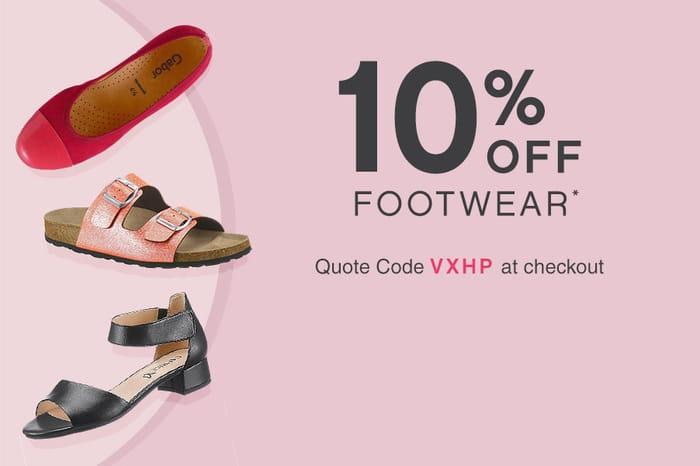 10% off Footwear