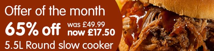 Round Slow Cooker 5.5L (Offer of the Month)