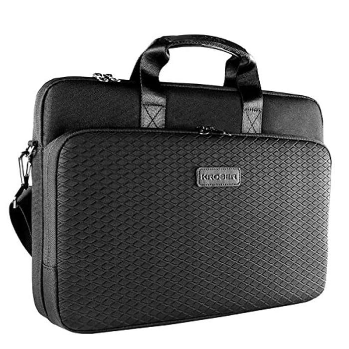 KROSER Laotop Bag Laptop Briefcase 15.6 Inch Shoulder Messenger Bag BLACK