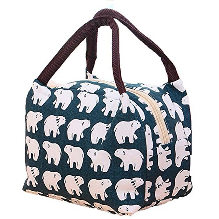 Thermal Insulated Lunch Bag Women Lunch Box Tote Cooler Bag (Bear)