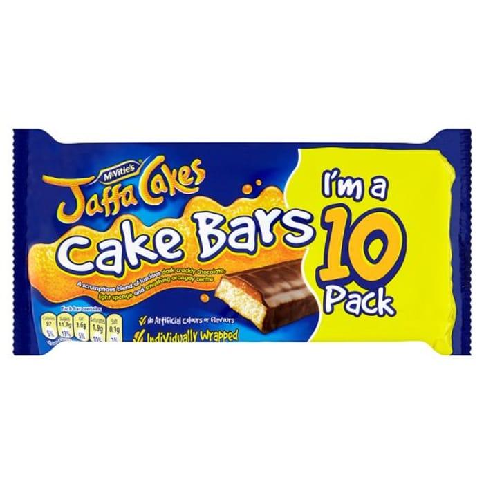 Mcvities Jaffa Cake Bars 10 Pack - Half Price!