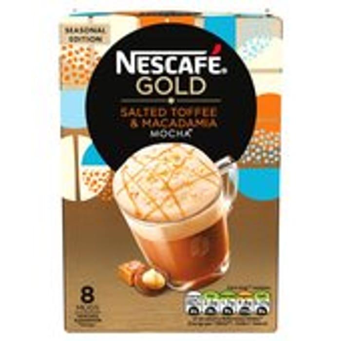 Nescafe Gold Salted Toffee & Macadamia Mocha 8 Mugs