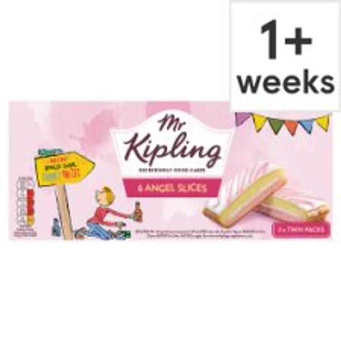 Half Price Mr Kipling Slices 6pk Chocolate, Lemon, or Angel Slices
