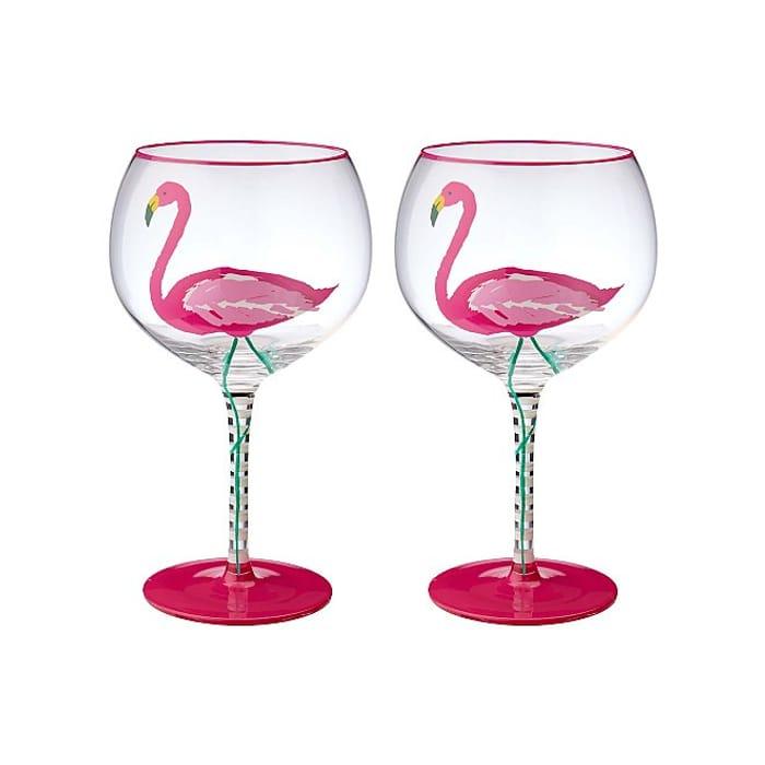 Flamingo Gin Glasses