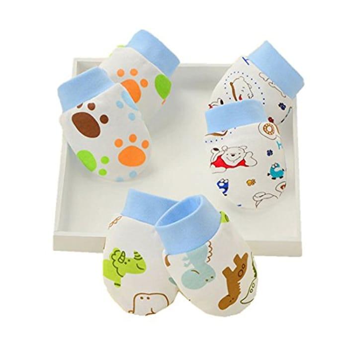 AFFE 3 Pairs Infant Baby Boy/Girl Cute Cartoon Gloves