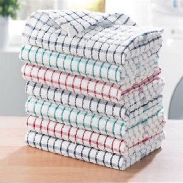 100% Cotton Tea Towels Set Pack of 3 (Free Delivery)