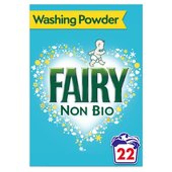 Fairy Non Bio Washing Powder 22 Washes 1.43kg 3 for £10