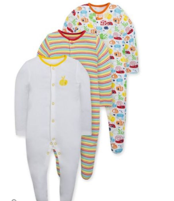 £6 for 3! Long Sleeved Sleep Suits Bee