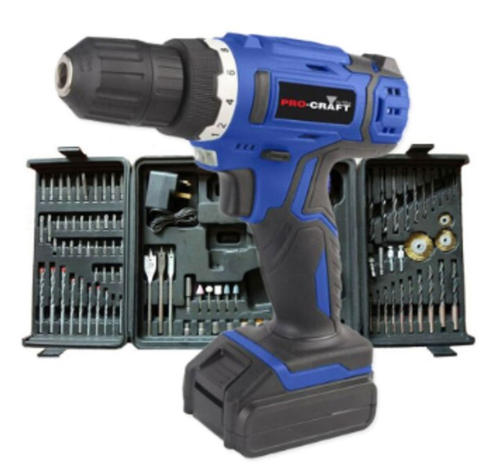 LESS THAN 1/2 PRICE - Pro-Craft 18V Li-Ion Cordless Drill & 89 Accessories