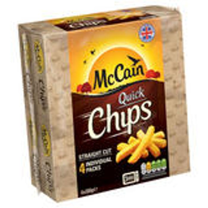 Iceland 7 Day Deal McCain Quick Chips Straight/Crinkle Cut 4 X 100g