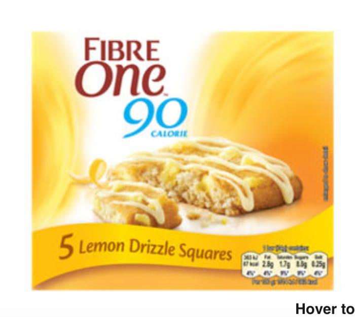 Fibre One 90 Calorie Lemon Drizzle Square Bars 5 Pack - HALF PRICE