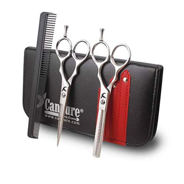 Hairdressing Barber Salon Hair Cutting Thinning Trimming Scissors Set with Comb