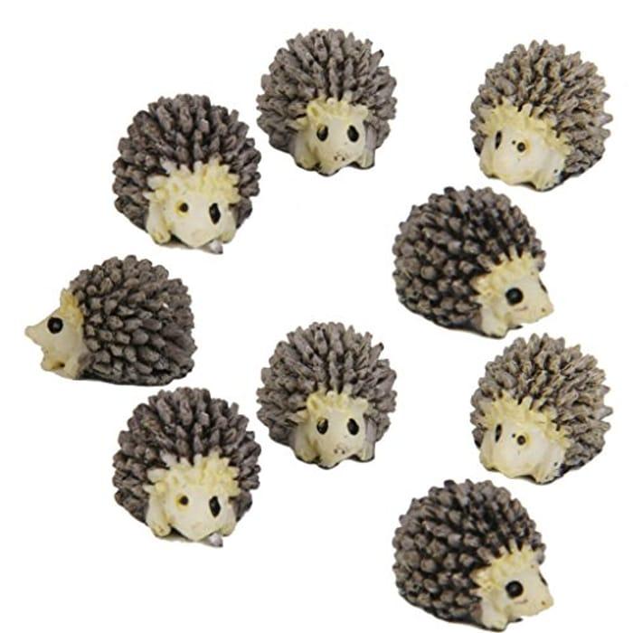 10pcs Miniature Landscape Garden Decor Hedgehog Ornaments