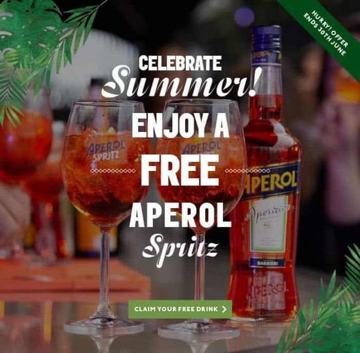 FREE Aperol Spritz at Piano&Pitcher..