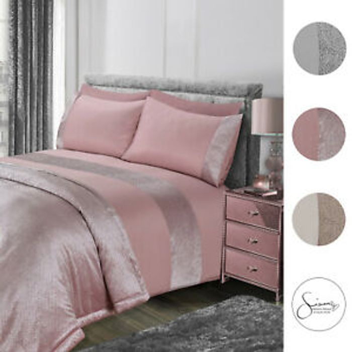 Bargain! Sienna Glitter Duvet Cover with Pillow Case at Ebay
