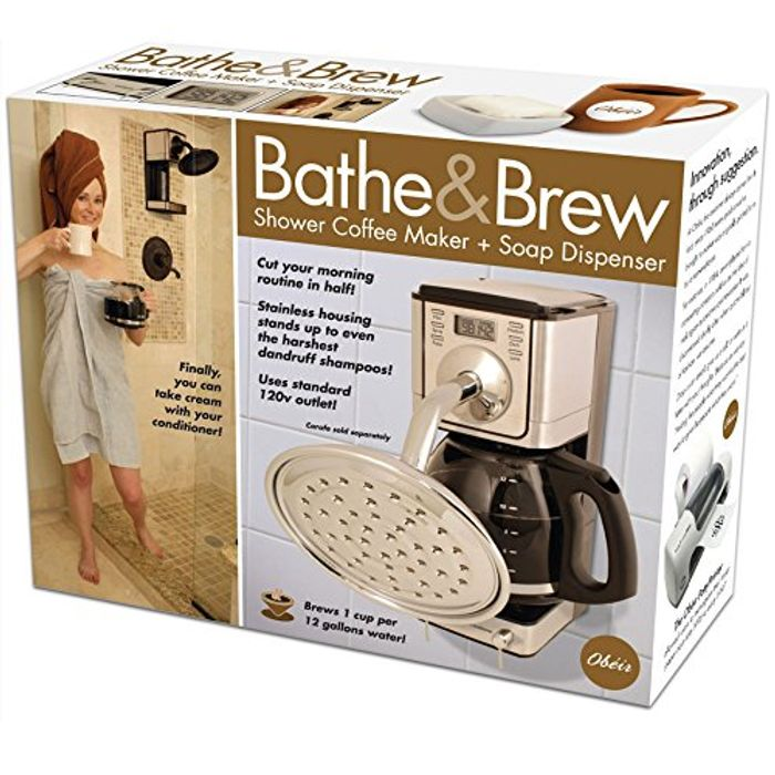 Father's Day Prank Gift Box - Shower Coffee Maker + Soap Dispenser