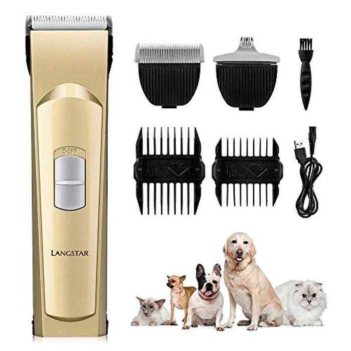 Price Drop!LANGSTAR 2019 Upgrade Dog Grooming Clippers for £14.49