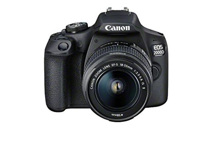 SAVE £131 - Canon EOS 2000D DSLR Camera with EF-S 18-55 Mm Lens