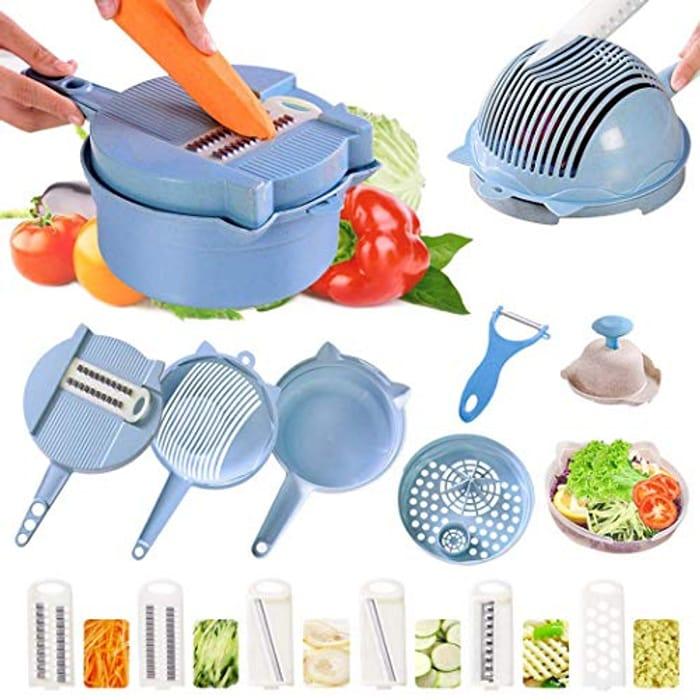 Multipurpose 8 in 1 Vegetable Slicer/Grater