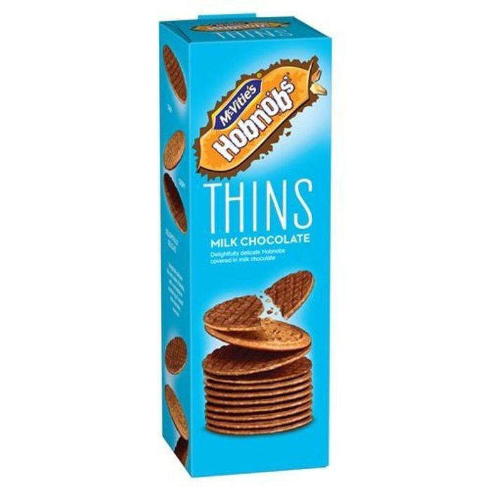 McVities Hobnob Thins Milk Chocolate 170g Only 2 for £1 at ClearanceXL