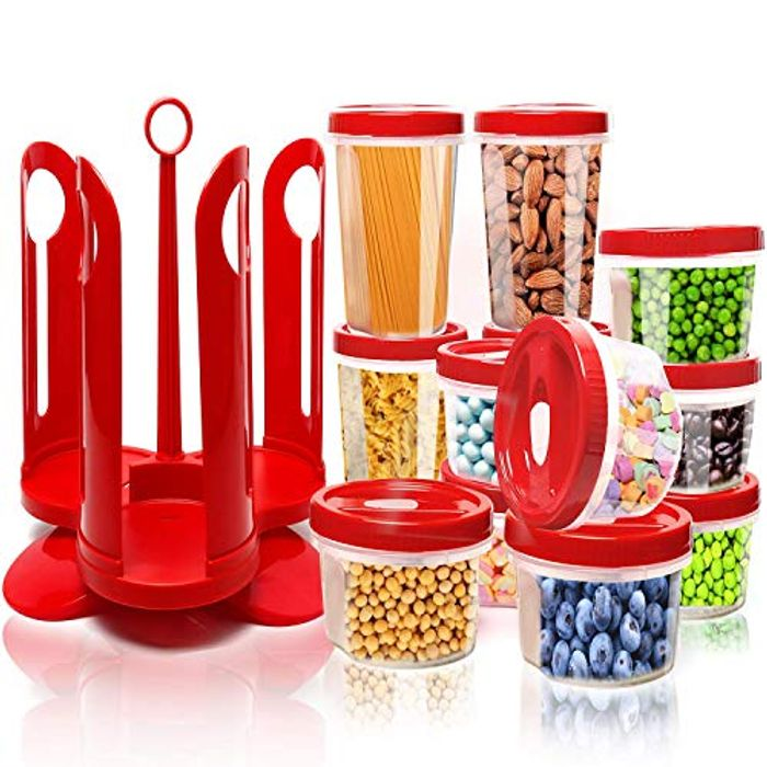 25-Piece Food Storage Container Set with Rotating Rack - £9.59 from Amazon