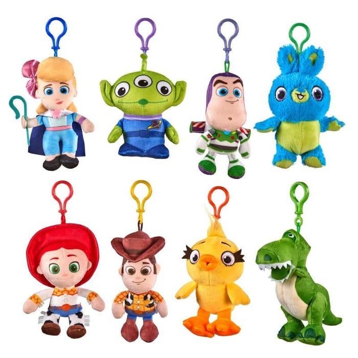 "Toy Story 4 Soft Plush 5"" Figure Bag Clip"